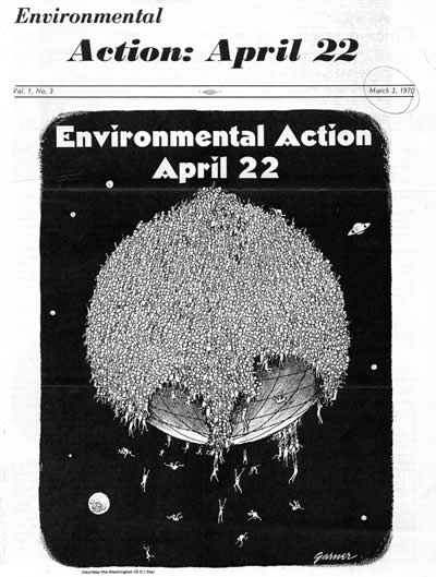 the small national coordination office newsletter, one of the last before the first Earth Day