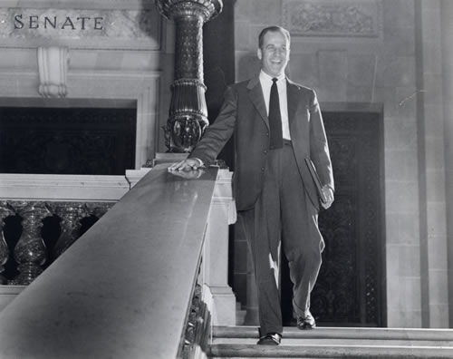 Gaylord Nelson state senate photo from Nelson Collection, c. 1957