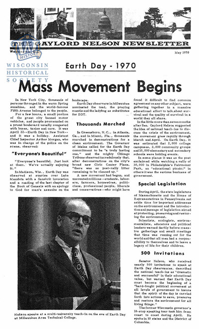 Nelson Senate newsletter from May 1970